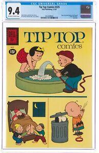 Tip Top Comics # 225 cgc 9.4 - Early Peanuts Appearance