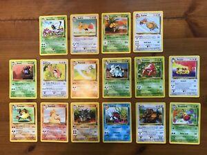 Pokemon 32 card original Jungle complete common/uncommon card set mint