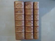 J-J ROUSSEAU: EMILE, 1766, 2 vol + Traité sur l'éducation,1770, EO .RELIE. RARE.