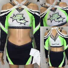 "Cheerleading Uniform Real Allstar Space Coast Top 34"" Chest Skit Is 28-30"" Waist"