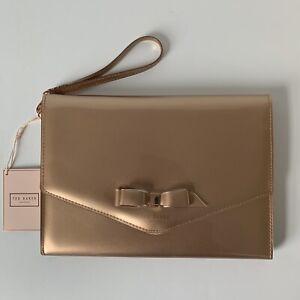 NWT Ted Baker London Cersei Envelope Clutch Handbag Rose Gold LOVELY!
