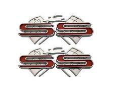 1961 Chevy Impala Rear Quarter X-Flag Emblem SS New Trim Parts!