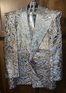 Harvey Krantz Of Hollywood Original Men's Disco Space Age Rhinestone Suit Jacket