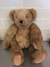"Vermont Teddy Bear Jointed Brown 15"" USA Handmade"