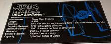 Star Wars Sticker for Lego® 75095 TIE/Ln Starfighter Fighter