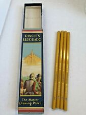 Vintage Dixon's Eldorado Master Drawing Four HB Pencils with Box Advertising