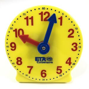 Hand2Mind Learning Clock Non Geared 4 Inch Clock