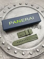 OFFICINE PANERAI OEM 24mm MILITARY GREEN RUBBER STRAP FOR TANG BUCKLE WITH BOX