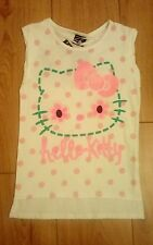 New Girls White and Pink Hello Kitty T-Shirt Age 6/7 Years