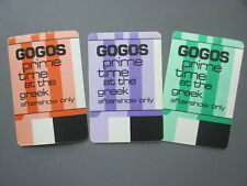GoGos backstage pass satin cloth stickers THREE Prime Time at the Greek !