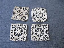 4 Antique Cyprus Lace Flower Shaped Appliques For Dolls Or Crafts Unused #2