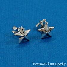 .925 Sterling Silver TEXAS STAR Post Stud EARRINGS *NEW*