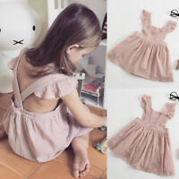 Toddler Kids Baby Girl Floral Dress Ruffle Princess Party Pageant Dress Clothes
