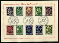 Austria Cards 4 Special Issues 1957