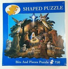 NEW Sealed Nativity Scene 750 Pc Shaped Puzzle Christmas Jesus In The Manger