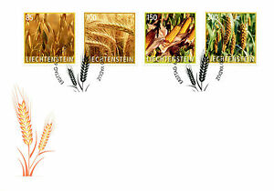 Liechtenstein 2017 FDC Crop Plants Grain Wheat Maize Corn 4v Set Cover Stamps