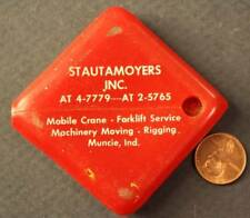 1960s Era Muncie,Indiana Stautamoyers Mobile Cranes-Machinery rubber coinpurse!*