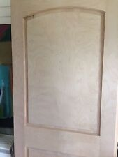 2 Raised Panel Arch Top Maple Solid Core Interior Stain Grade Wood Doors