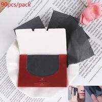 90Pcs/pack Bamboo Charcoal Oil Blotting Sheet Paper Oil Control Tissue PortabR8Y