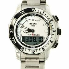 Tissot T026420A Stainless Steel White Dial Alarm Compass Digital Mens Watch
