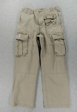 Polo Ralph Lauren Military Cargo Cotton Distressed Pants (Youth Size 12) Tan