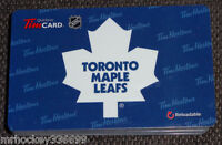 2013 Toronto Maple Leafs (FD38779) collectible Tim Hortons gift card (ncv) 344