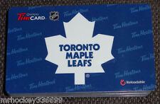2015 Toronto Maple Leafs (FD49240) collectible Tim Hortons gift card (ncv)