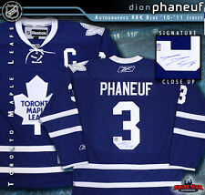 Toronto Maple Leafs DION PHANEUF Signed Blue Reebok Jersey