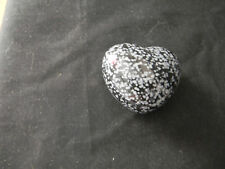 Snowflake Obsidian Heart (eb55)
