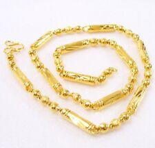 Herren 24K Gelbes Gold Überzogener Rund Schnur Weihnachten Geburtstag Halskette