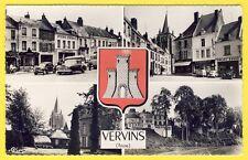 cpsm Multivue 02 - VERVINS (Aisne) Comptoir Français Epicerie LOUVET Automobiles