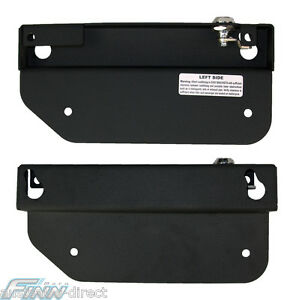 Motorcycle Saddle Bag Mounting System On & Off in seconds Quick Release Brackets