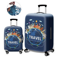 Printed Elastic Dustproof Travel Suitcase Protective Cover Luggage Protector  BH