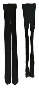 Legacy Sz C Animal Print and Solid Control Top Tights 2 Pack Black A370514