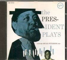 CD ALBUM 13 TITRES--LESTER YOUNG &THE OSCAR PETERSON TRIO--THE PRESIDENT PLAYS