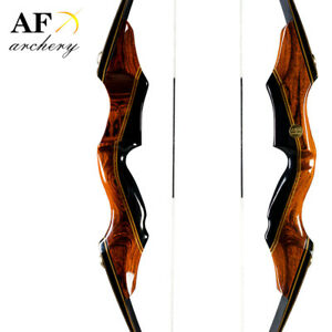 "AF 58"" Takedown bow 25-55lbs Archery Right Hand Recurve Bow and long bow Hunting"