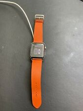 Hermes Apple watch 42mm series 3 orange leather band authentic