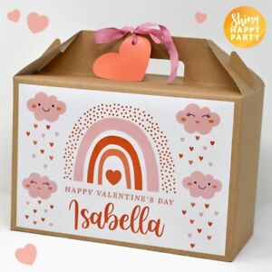 PERSONALISED Large VALENTINE'S DAY Love Box Rainbow Clouds Gift Special Favours