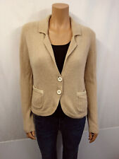 NC NICE CONNECTION Strickjacke Gr.42 Cardigan 100% Kaschmir Cashmere Beige