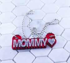 Name Necklace Acrylic Personalized - Sparkle Letters - FREE Shipping, Any Colors