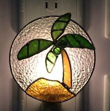 Stained Glass Palm Tree Night Light New [9009-81]