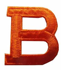 "1 3/4"" Orange Letter ""B"" Embroidery Iron On Applique Patch"