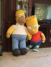 HOMER and Bart SIMPSON  Rare ~4 Foot Tall Life Size Plush Stuffed Animal Toys