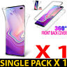 1PCS FOR SAMSUNG S7 edge S8 S9 S10+ 360 DEGREE SILICON CLEAR TPU + PC CASE COVER