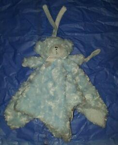 Blankets & Beyond Blue Bear Lovey Security Blanket Binky Pacifier Strap Holder