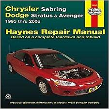 Haynes CHRYSLER SEBRING (95-06) CONVERTIBLE GTC Owners Repair Manual Handbook