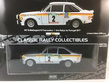 Sunstar 1/18 Scale - 4455 FORD ESCORT MK2 RS 1800 WALDEGARD RALLY PORTUGAL 1977