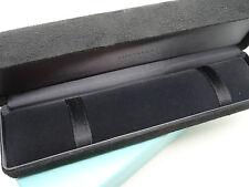 "Tiffany & Co. 8.5"" x 2.3"" x 1.75"" Black Suede Satin Presentation Case Outer Box"