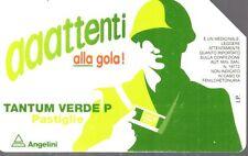 27-Scheda telefonica Telecom Tantum verde pastiglie sc.12/1998
