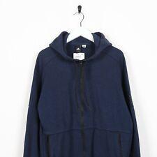Vintage ADIDAS Sleeve Logo Zip Up Hoodie Sweatshirt Blue Medium M